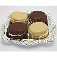 Chocolate And Vanilla Macarons Set Of 4 With Tray Perfect For 18 Inch American Girl Dolls