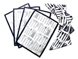 Homeblendz set of 4 Table Place Mats and set of 4 napkins with Kitchen Cutlery Pattern