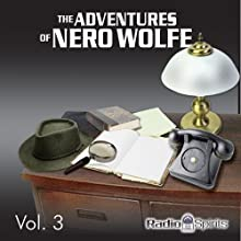 Adventures of Nero Wolfe Vol. 3 Radio/TV Program by Adventures of Nero Wolfe