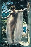 John Reinhard Weguelin Lesbia 1878 Neo Classical Oil On Canvas Painting Art Print Poster 12x18