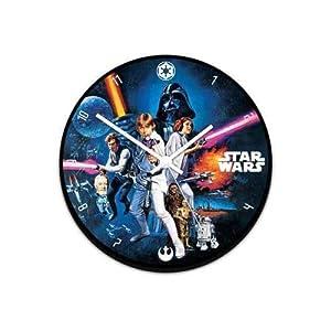 "Vandor 99089 Star Wars 13.5"" Cordless Wood Wall Clock, Multicolor"
