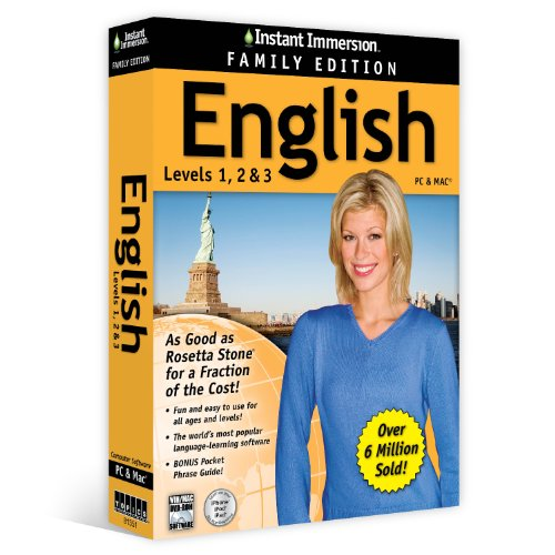Instant Immersion English Family Edition Levels 1,2,3