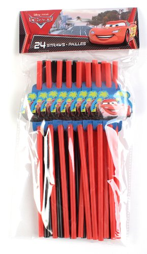 Cars Decorated Drink Straws / Favors (24ct)