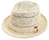 Jessica Simpson Womens Multi Color Fedora Hat, Sesame, One Size