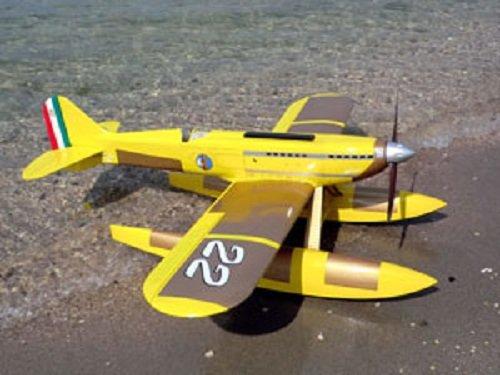Sebart Macchi MC-72 50E RC ARF Aircraft Ultimate Combo Yellow/Gold