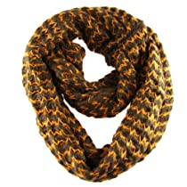 Know Your Direction Infinity Scarf, Brown and Orange