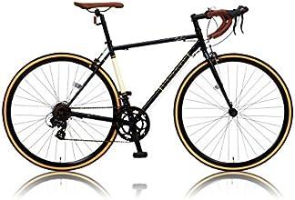 CANOVER(カノーバー) 700×25C クロモリフレーム クラシカルロードバイク シマノ14段変速【デュアルコントロールレバー採用】 重量11.5Kg LEDライト標準装備 CAR-013 ORPHEUS(オルフェウス) ブラック
