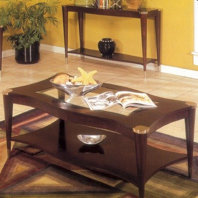 Cheap Sausalito Rectangular Coffee Table In An Espresso Finish (61-00)