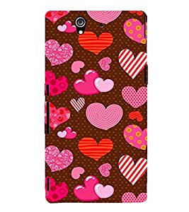 Beautiful Heart Wallpaper 3D Hard Polycarbonate Designer Back Case Cover for Sony Xperia Z :: Sony Xperia Z L36h