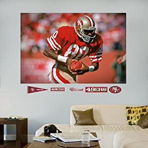NFL San Francisco 49ers Jerry Rice In Your Face Mural Wall Graphics by Fathead