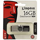 Kingston 16gb Datatraveler 101 G2 Dt101g2/16gbz Usb 2.0 Flash Drive - 16 Gb - Usb - Black By Kingston
