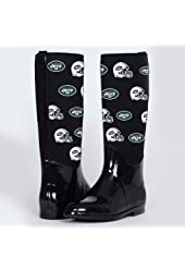 NFL Cuce Shoes New York Jets Women's Enthusiast II Rain Boots - Black