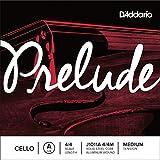 D\'Addario Bowed Corde seule (La) avec filet en aluminium pour violoncelle D\'Addario Prelude, manche 4/4, tension Medium