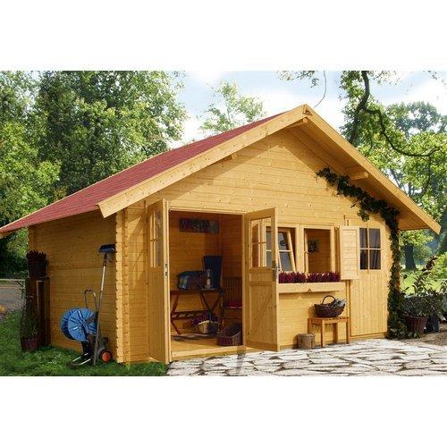 Woodfeeling Gartenhaus Fagor 2 40 mm 2-Raum-Haus kaufen
