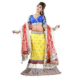 Aagaman Fashions Net Lehenga Choli (TSSF10019_Yellow)