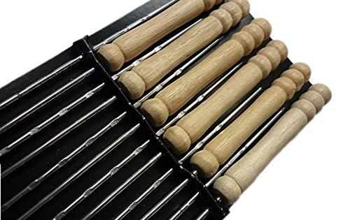 TGLOE Pinces Pour Barbecue Brochette Agneau poussée 12 Pièces Pinces Pour Barbecue