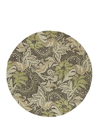 Kaleen Home & Porch Indoor/Outdoor Rug, Coffee, 7' 9 Round As You See