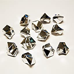 CYS Acrylic Rocks in Different Colors. Pack of 4 lbs (Silver)