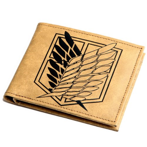LadayPoa Attack on Titan Anime Eren Mikasa Levi Badge Wallet