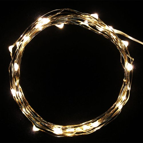 Muchbuy Starry Starry Lights, Warm White Color On Copper Wire, Battery Powered, 10Ft String With 30 Individual Leds