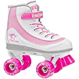 Roller Derby 1978-03 Youth Girls Firestar Roller Skate, Size 3, White/Pink