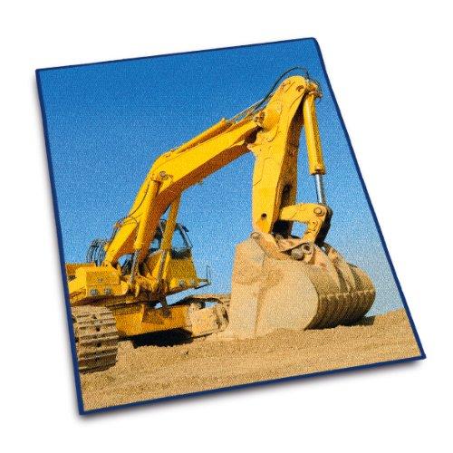 Herding-645178012412-Teppich-Kinderteppich-Bagger-100-x-130-cm