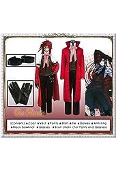 Black Butler / Kuroshitsuji - Grell Sutcliff Coat Cosplay Costume [Deluxe Set]