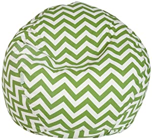Buy Majestic Home Goods Bean Bag, Sage Zig Zag, Small by Majestic Home Goods