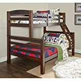 Powell D1046Y16 Bunk Bed, Twin/Full, Espresso (Color: Espresso, Tamaño: Twin/Full)