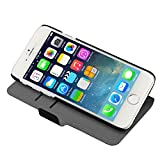 TeckNet® New Apple iPhone 6 Plus Leather Wallet Flip Case For Apple iPhone 6 Plus, 5.5 inch, Sep 2014 Release - Black