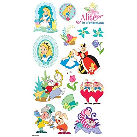 Venture with Alice and all of her topsy-turvy friends using these Stickers from Disney's animated classic, Alice in Wonderland.