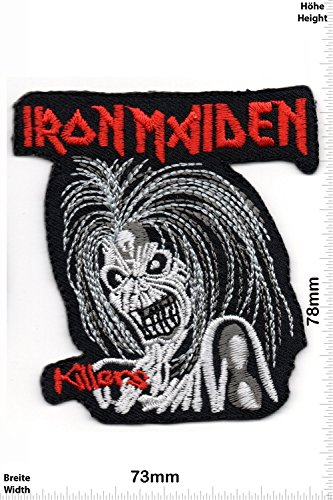 Patch - Iron Maiden - Killers - MusicPatch - Rock - Chaleco - toppa - applicazione - Ricamato termo-adesivo - Give Away