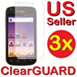 3x Samsung© Galaxy S Blaze 4G SGH-T769 (T-Mobile) Premium Invisible Clear LCD Screen Protector Kit (3 Piece Kit)
