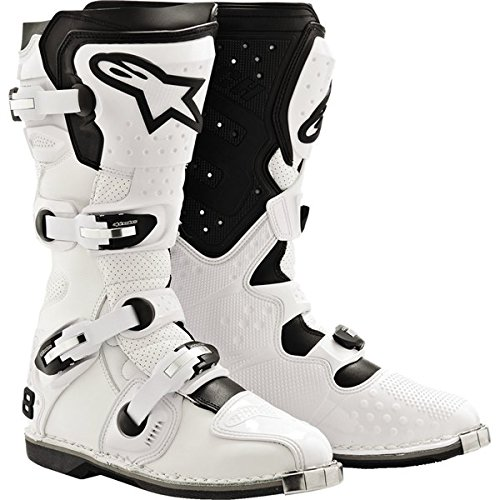 Alpinestars Tech 8 Light Men's MX/Off-Road/Dirt Bike Motorcycle Boots - White / Size 10