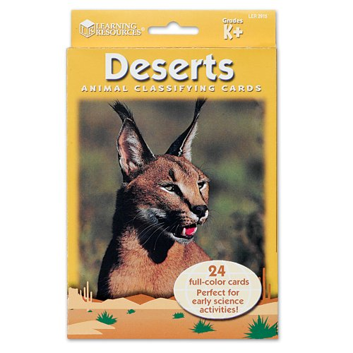 Learning Resources Animal Classifying Cards, Deserts