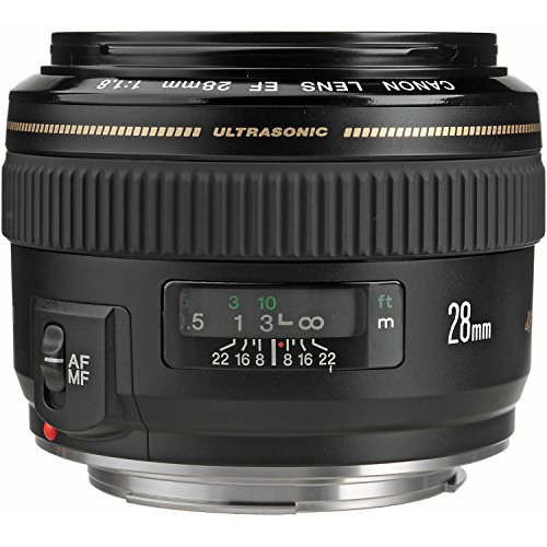 Canon EF 28mm f/1.8 USM Wide Angle Lens for Canon SLR Cameras (35 Mm Lens For Canon 70d compare prices)