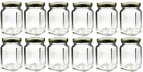 12 Pack of 6oz Square Victorian Jars, Bulk Value Pack of Square Glass Jars with Screw-On Lids, Ideal for Spice Storage, Wedding and Party Favors, DIY Projects & More! (Set of 12) (Apothecary Jar With Metal Lid compare prices)