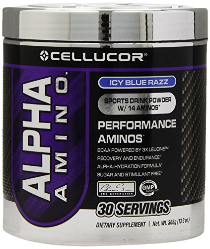Cellucor Alpha Amino Ice Blue Razz 30 Servings,13.3Oz.