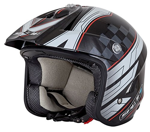Spada Motorcycle Helmet Edge Explorer Trials Black/White