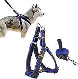 Arnés del animal doméstico, perro lleva Ambielly Jean Correa No-Pull perro / gato con la seguridad del perro hebillas de liberación rápida del arnés de la correa de cadena de la cuerda del vaquero