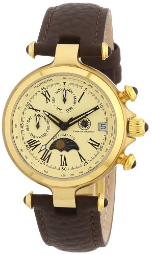 Constantin Durmont CD-MIRL-AT-LT-GDGD-CR - Orologio da polso donna, pelle, colore: marrone