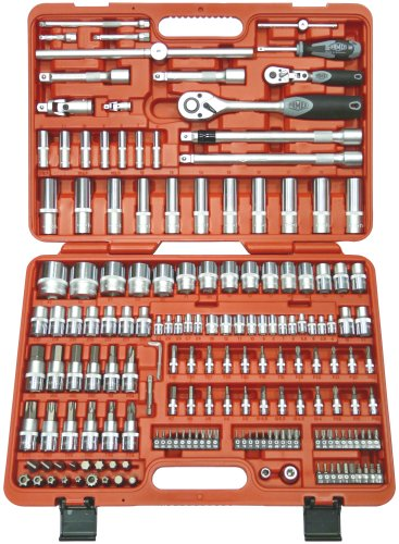 FAMEX Tools 526-SD-21 173-Piece High Class Socket Set for the Mechanic, Metric, 1/2-1/4 Inch Drive