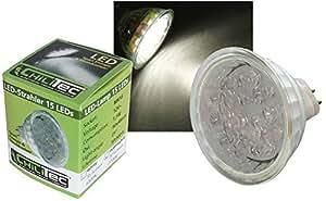 LED Strahler MR16, 15 LEDs, warmweiß-2700k, 30lm, 25°, 12V/1W