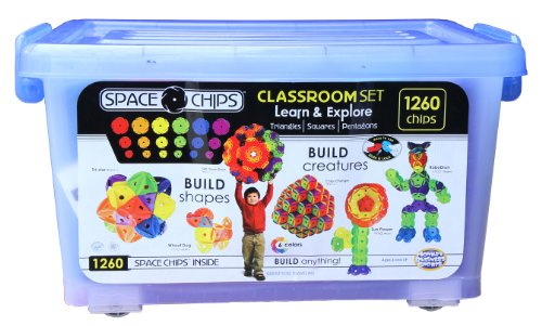 Monkey Business Sports Space Chips Learn and Explore Extra Large Set (1260 Pieces)