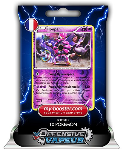 HOOPA holo reverse 51/114 130PV XY11 OFFENSIVE VAPEUR - Booster de 10 cartes Pokemon francaises my-booster