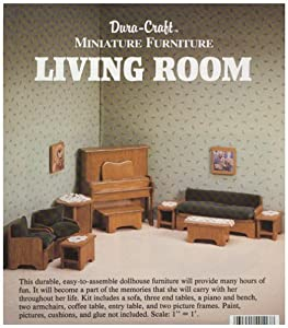 dura craft miniature dollhouse living room
