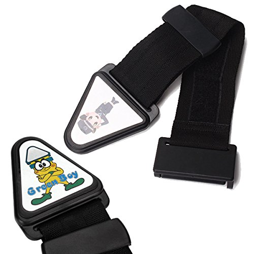 Black Oxford Car Safety Seat Belt Adjust Device With Lock Buckle For Child front-48906