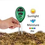 PH Soil Meter, 3-in-1 Soil Tester Kit Moisture Soil Meter with Light, PH & Acidity Meter Gardening Tools for Plant, Lawn, Farm, Indoor/Outdoors to Use, Easy Read Indicator (No Battery needed)
