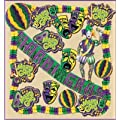 Beistle 55102 19-Piece Mardi Gras Decorating Kit