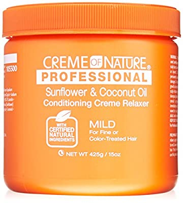 Creme of Nature Professional Sunflower and Coconut Oil Conditioning Relaxer, Mild Formula, 15 Ounce